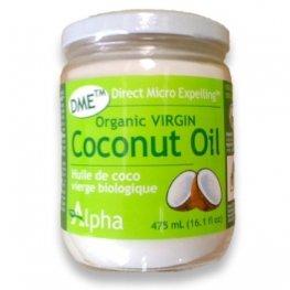 "Alpha DME Extra Virgin Coconut Oil Certified Organic"" - Glass Jar""-475 ml Brand: Alpha Health Products"
