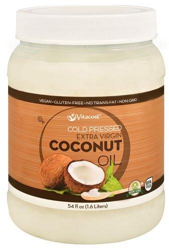 Vitacost Cold Pressed Extra Virgin Coconut Oil - Non-gmo and Gluten Free -- 54 Fl Oz (1.6 Liters)