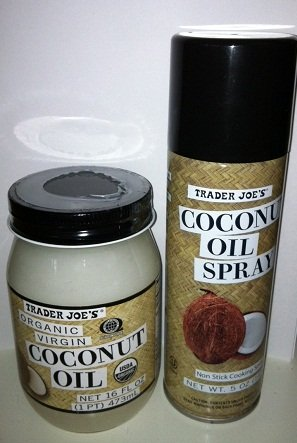 1 Trader Joe's Coconut Oil Spray + 1 Jar of Trader Joe's Organic Virgin Coconut Oil