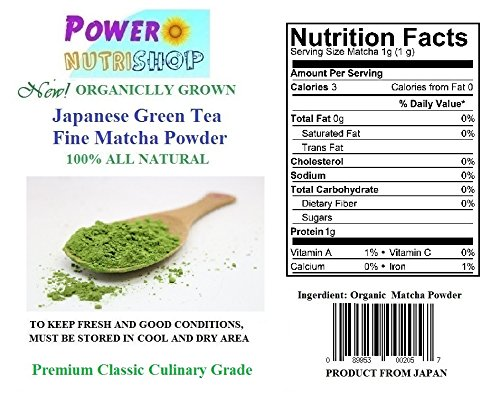 100% GROWN ORGANICALLY Japanese Matcha Green Tea Powder Classic Culinary Grade (For Blending & Baking) (20 kg (44 LB))