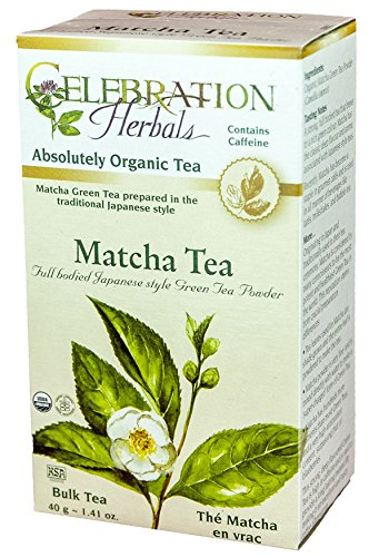Celebration Herbals Loosepack Herbal Green 7 Black Tea Matcha Organic -- 40 g