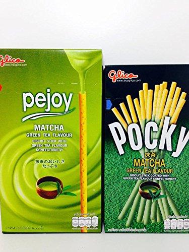 2 Flavours of Glico Matcha Green Tea - Pejoy Matcha Green Tea