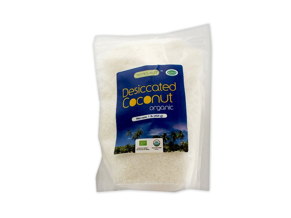 1 LB Dried Coconut Flakes - 100% USDA Certified Organic Virgin