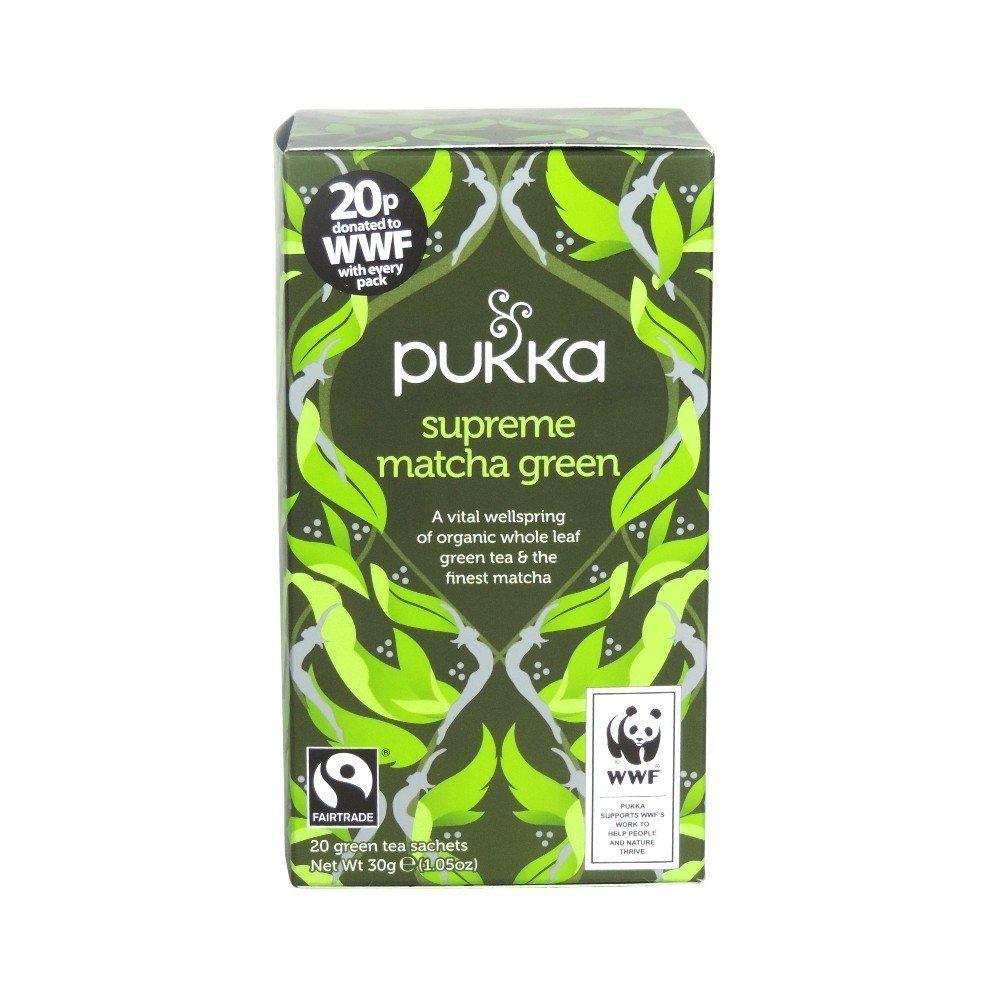 (2 Pack) - Pukka Herbs - Supreme Green Matcha Tea | 20 sachet | 2 PACK BUNDLE