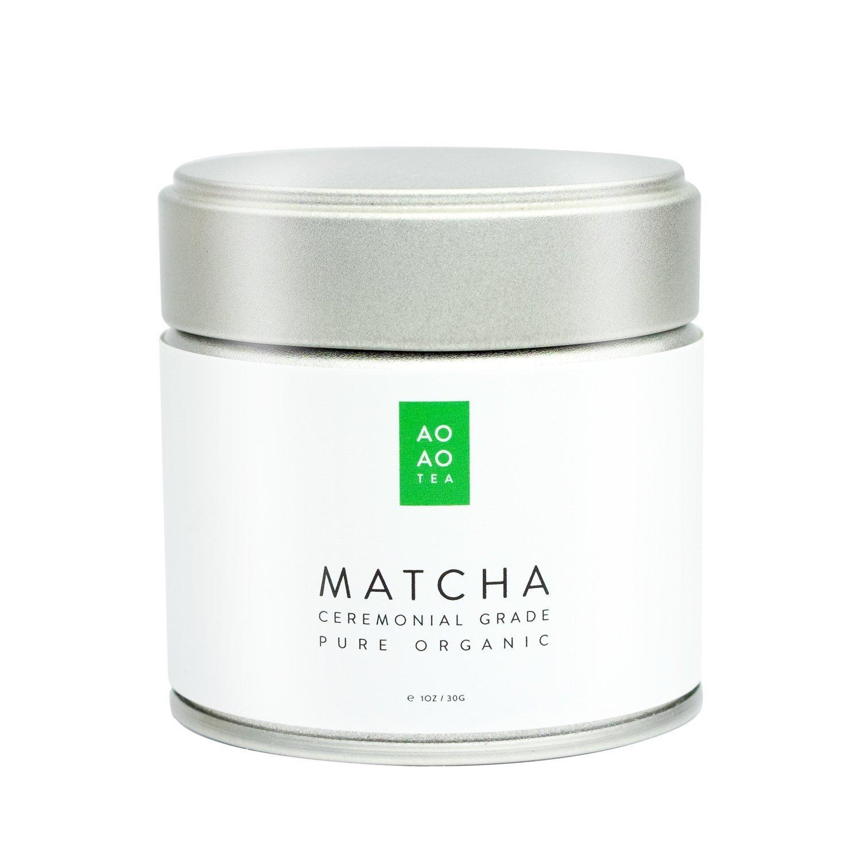AO AO TEA - Matcha Green Tea Powder - Ceremonial Grade 1oz / 30g - Healthy & Delicious - All Natural Energy - USDA Certified Organic Premium Matcha Powder - Product of Japan