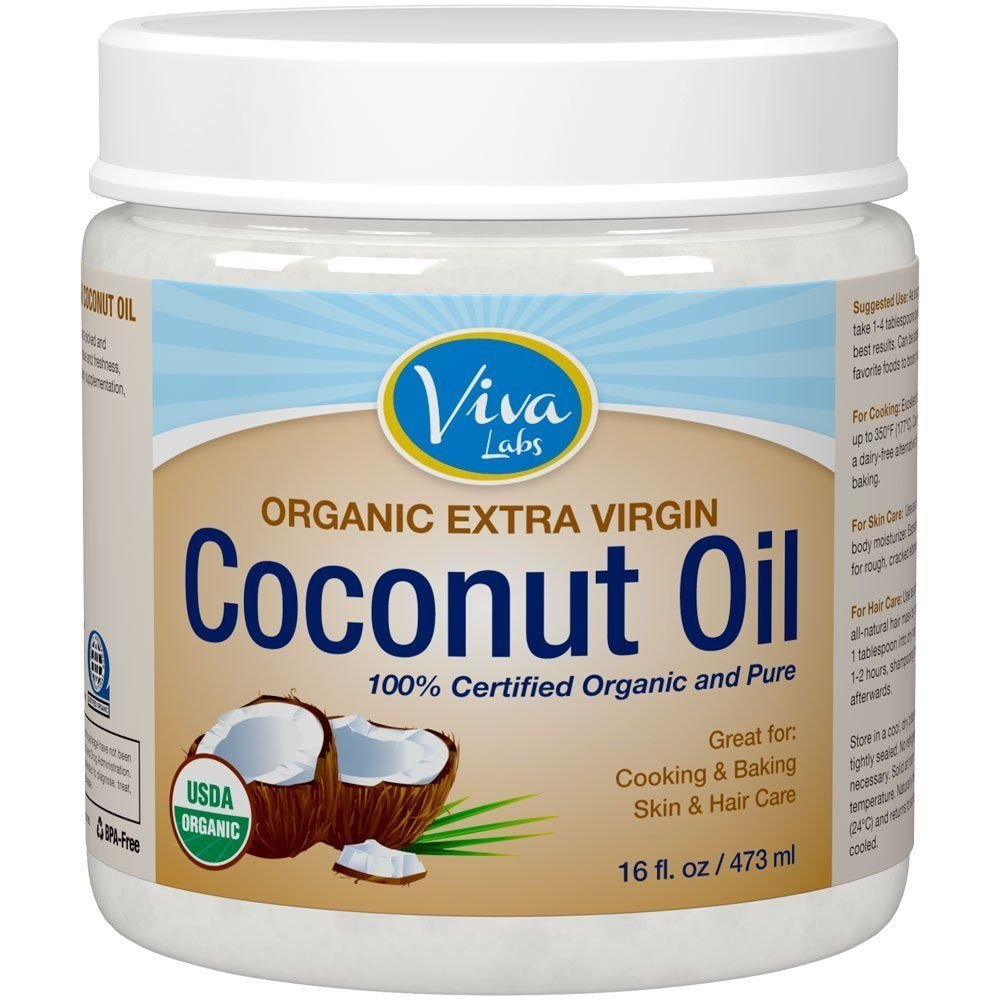 Viva Labs Organic Extra Virgin Coconut Oil - 16 Ounce (pack of 2)