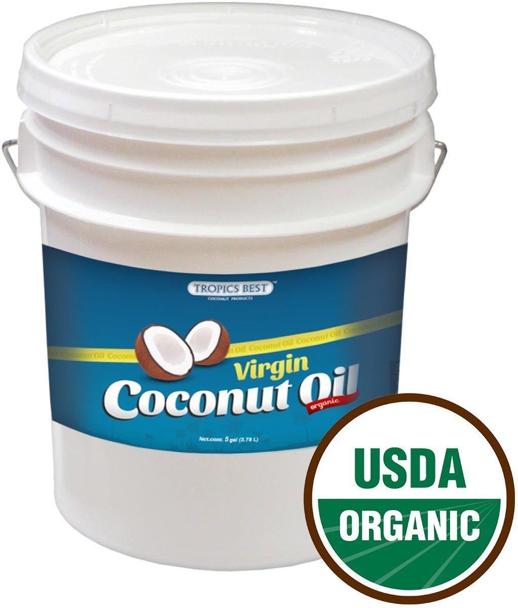 5 Gallon Coconut Oil - 100% USDA Certified Organic Virgin