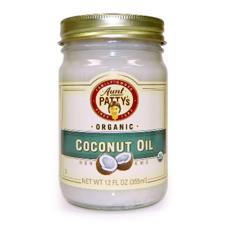 AUNT PATTY'S-ORGANIC COCONUT OIL - 12oz Bottle