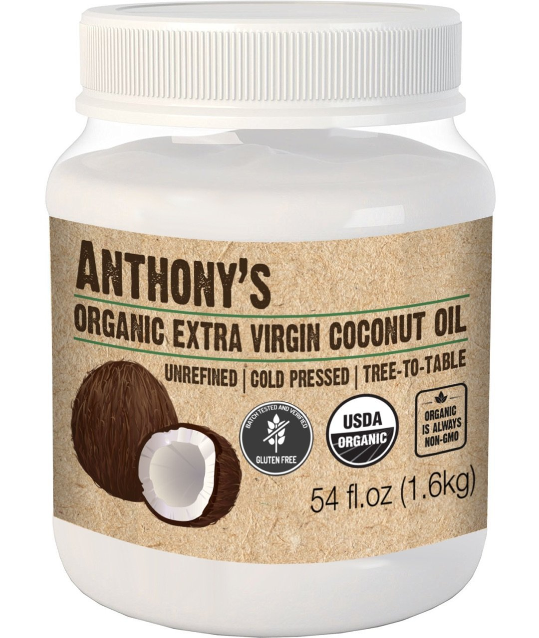 Anthony's Organic Extra Virgin Coconut Oil (54 Ounce)