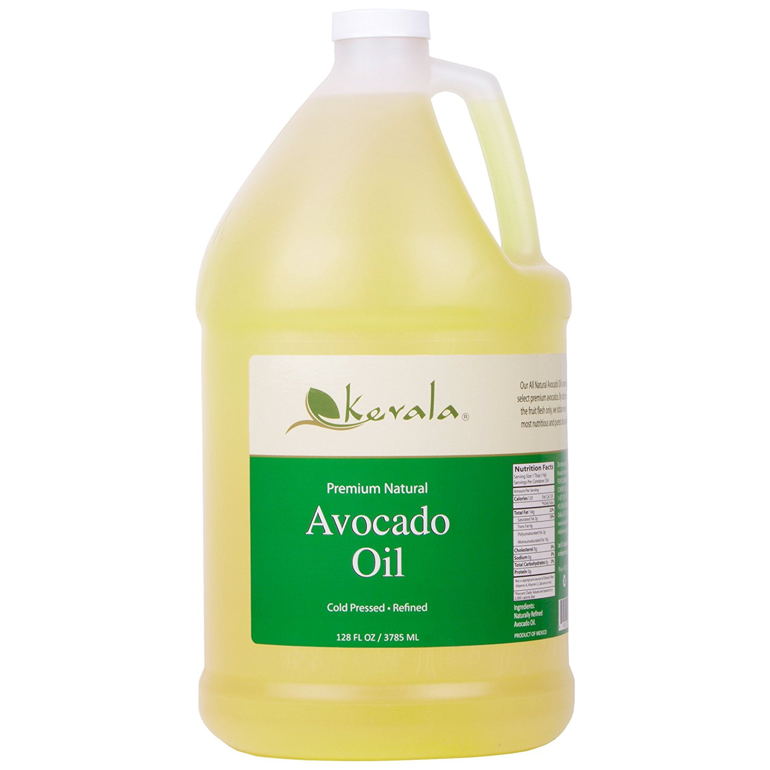 Kevala Avocado Oil 1 Gallon (Refined)
