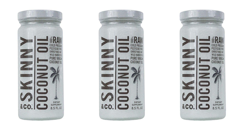 3 Pack of 8.5 fl oz. Skinny & Co. Extra Virgin Skinny Coconut Oil