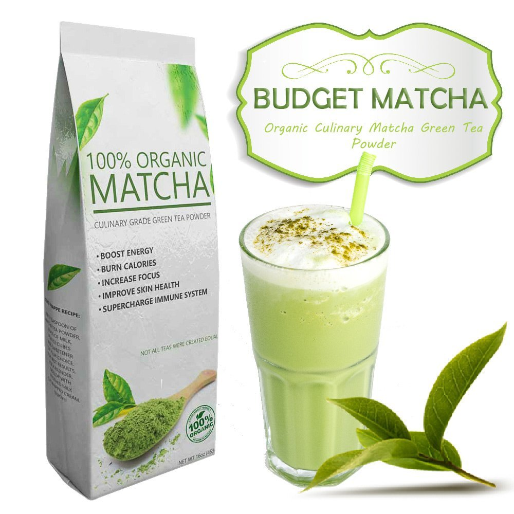 Budget Matcha – All-Natural – USDA Organic – – Ideal for Starters – Great Quality at Low Cost (16oz)