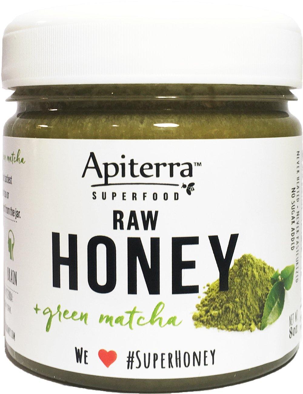 Apiterra Honey with Matcha Organic Green Tea Powder - 32 Ounce