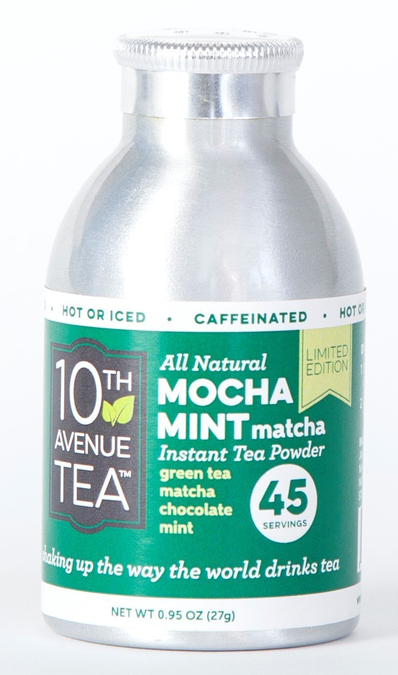 10th Avenue Tea Instant Hot or Iced Tea Powder - Mocha Mint Matcha