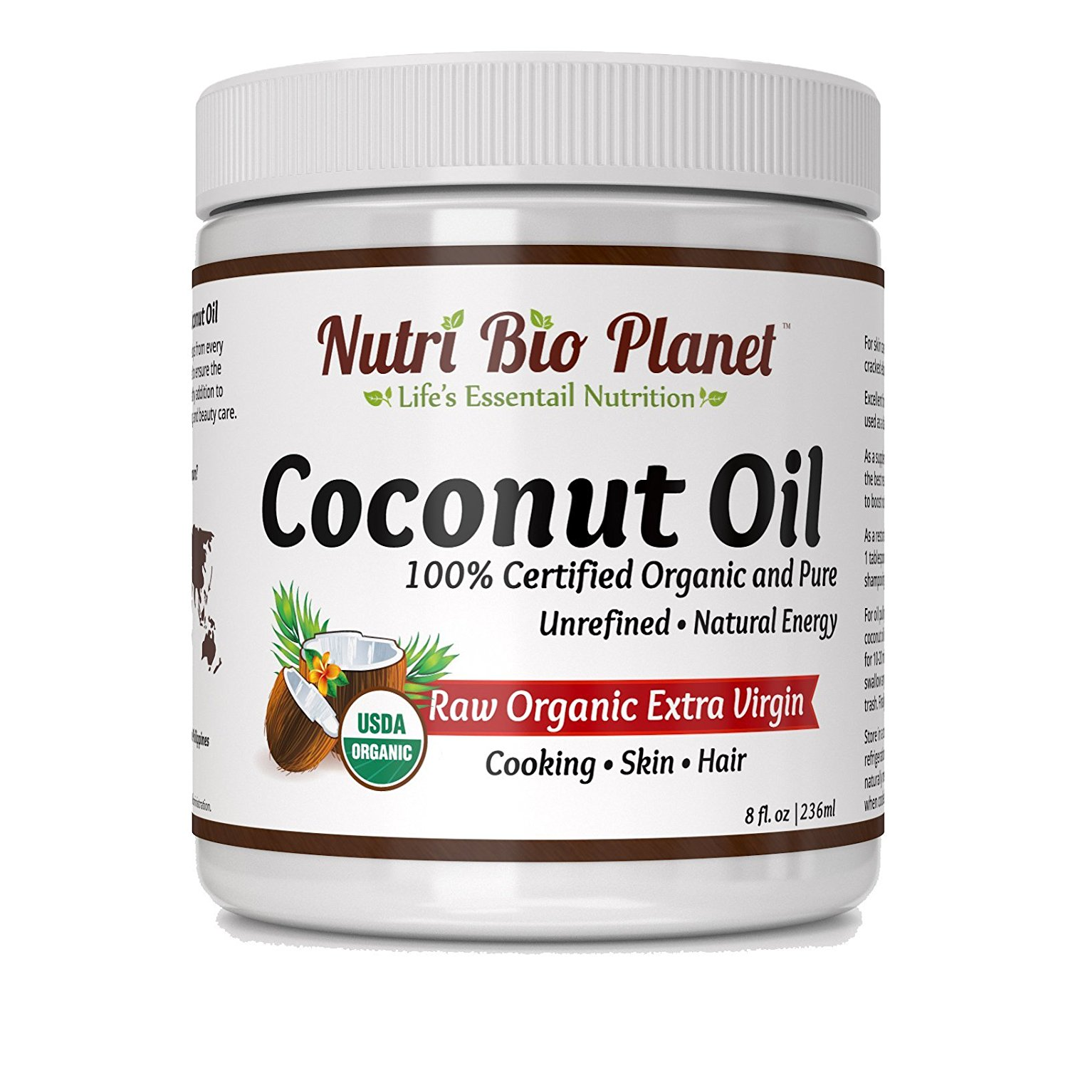 NutriBioPlanet Raw Organic Extra Virgin Coconut Oil