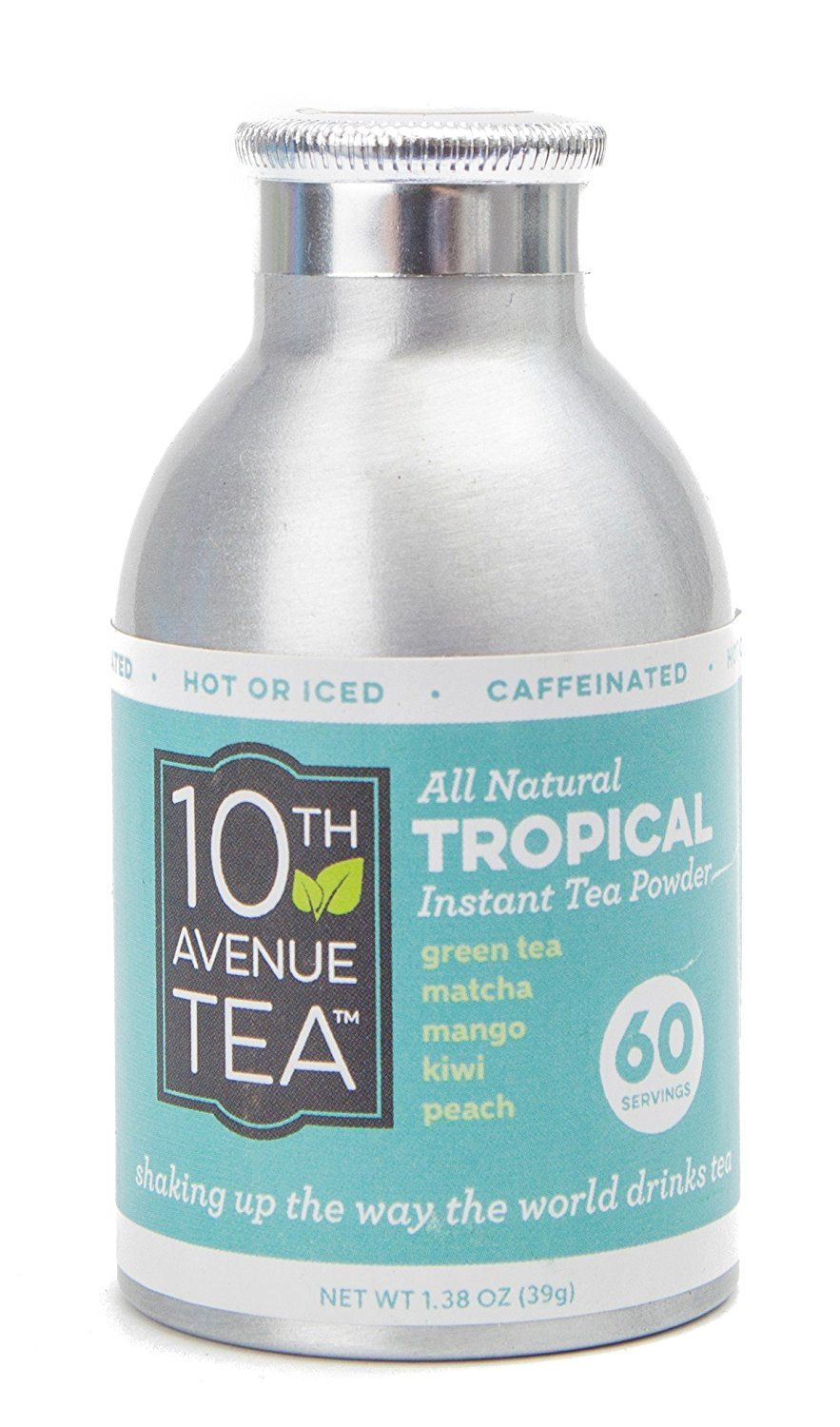 10th Avenue Tea Tropical Tea Powder - 60 Servings - All Natural - Hot or Iced Tea