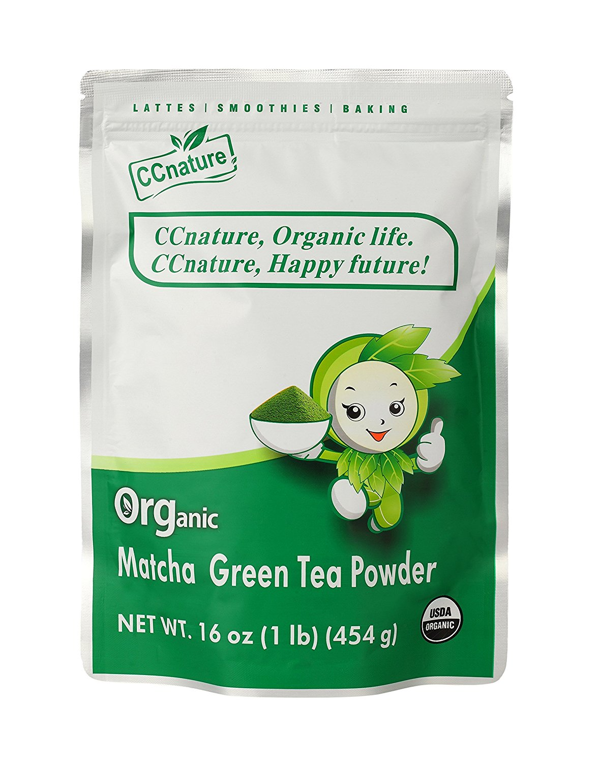 CCnature Organic Matcha Green Tea Powder Culinary Grade Matcha 16oz