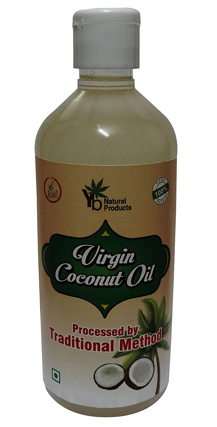 YB Natural Raw Virgin Coconut Oil 17.64 Ounce- FSSAI Certified
