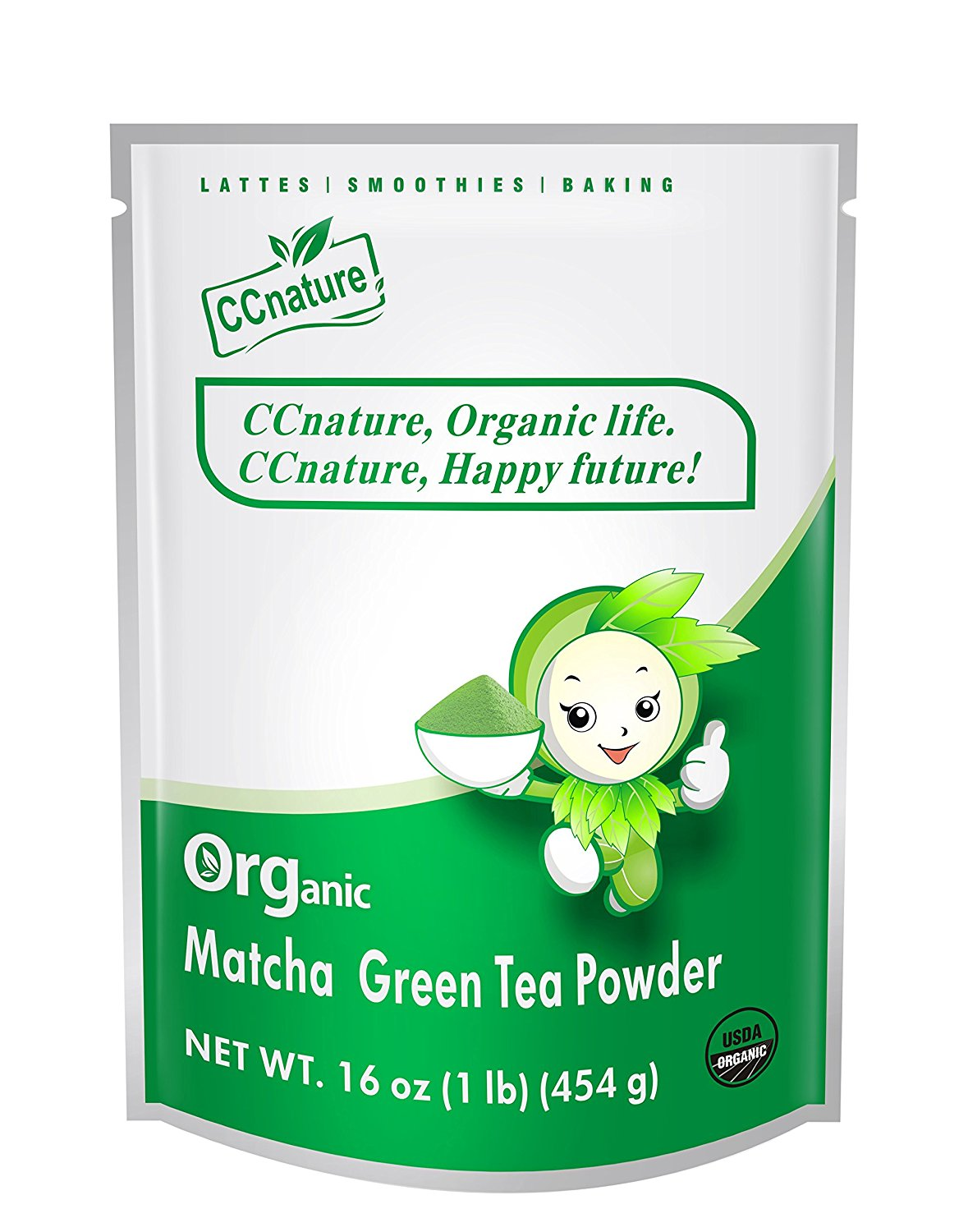 CCnature Organic Matcha Green Tea Powder 1lb