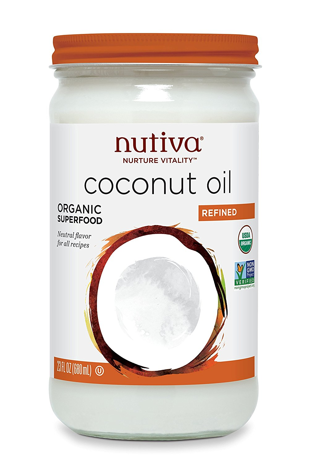 Nutiva Refined Coconut Oil - 23 OZ