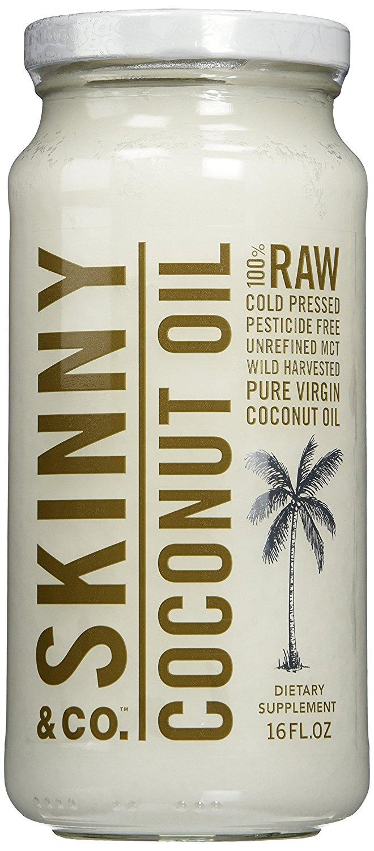 2 Pack - Skinny & Co. Extra Virgin Skinny Coconut Oil (16 fl oz per bottle)