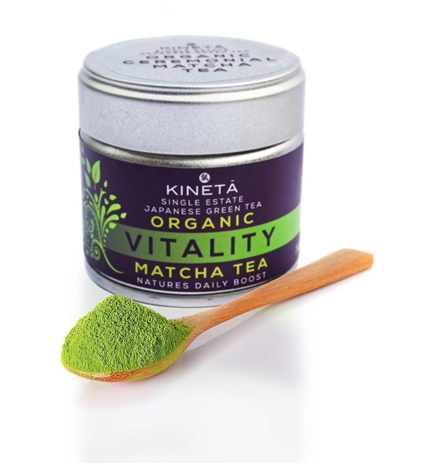 *** NEW*** Organic Vitality Matcha Green Tea by Kineta TM. Ceremonial Grade A* Finest Japanese Green Tea Powder. Family Farm. Tea Masters Choice