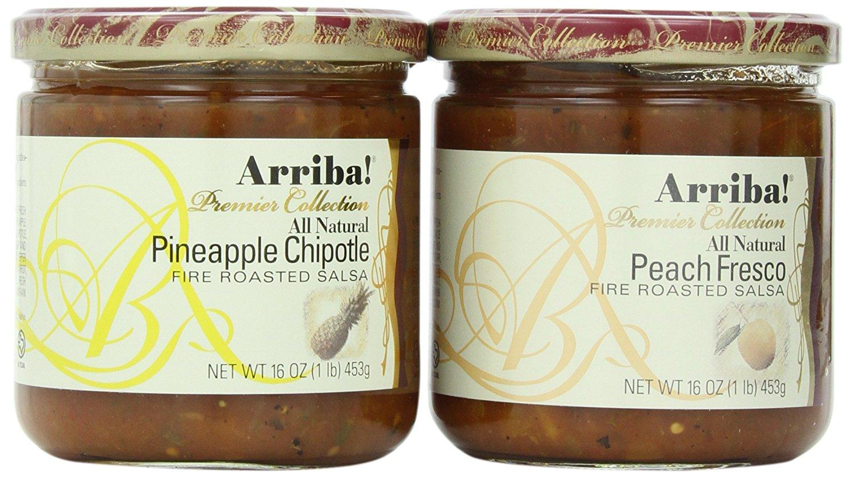 Arriba! Pineapple Chipotle Salsa and Peach Fresco Salsa Combo Pack