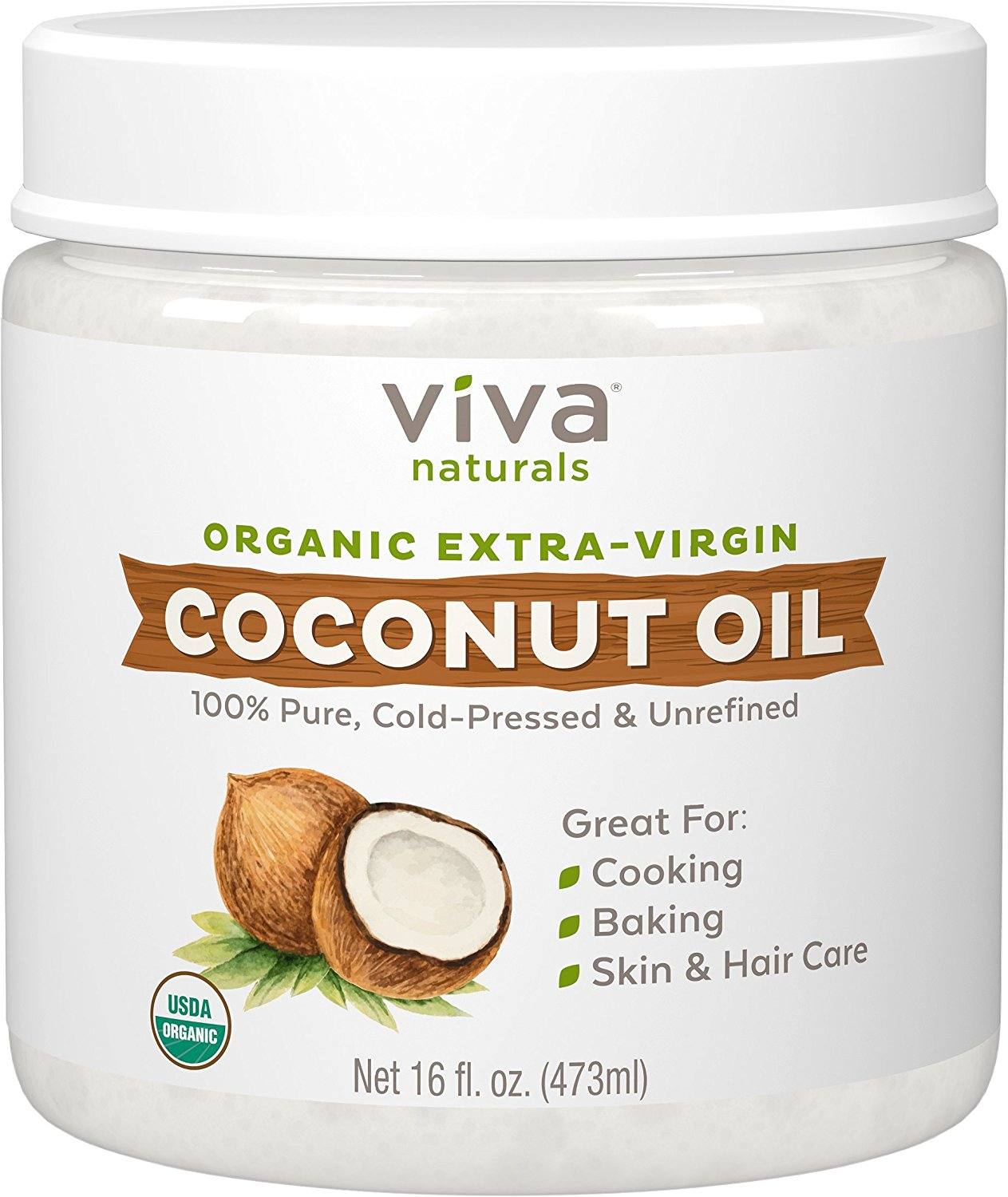 Viva Naturals The Finest Organic Extra Virgin Coconut Oil