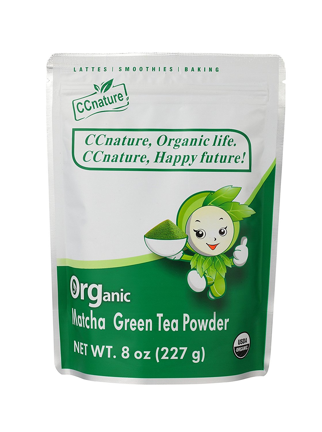 CCnature Organic Matcha Green Tea Powder 8oz (new)