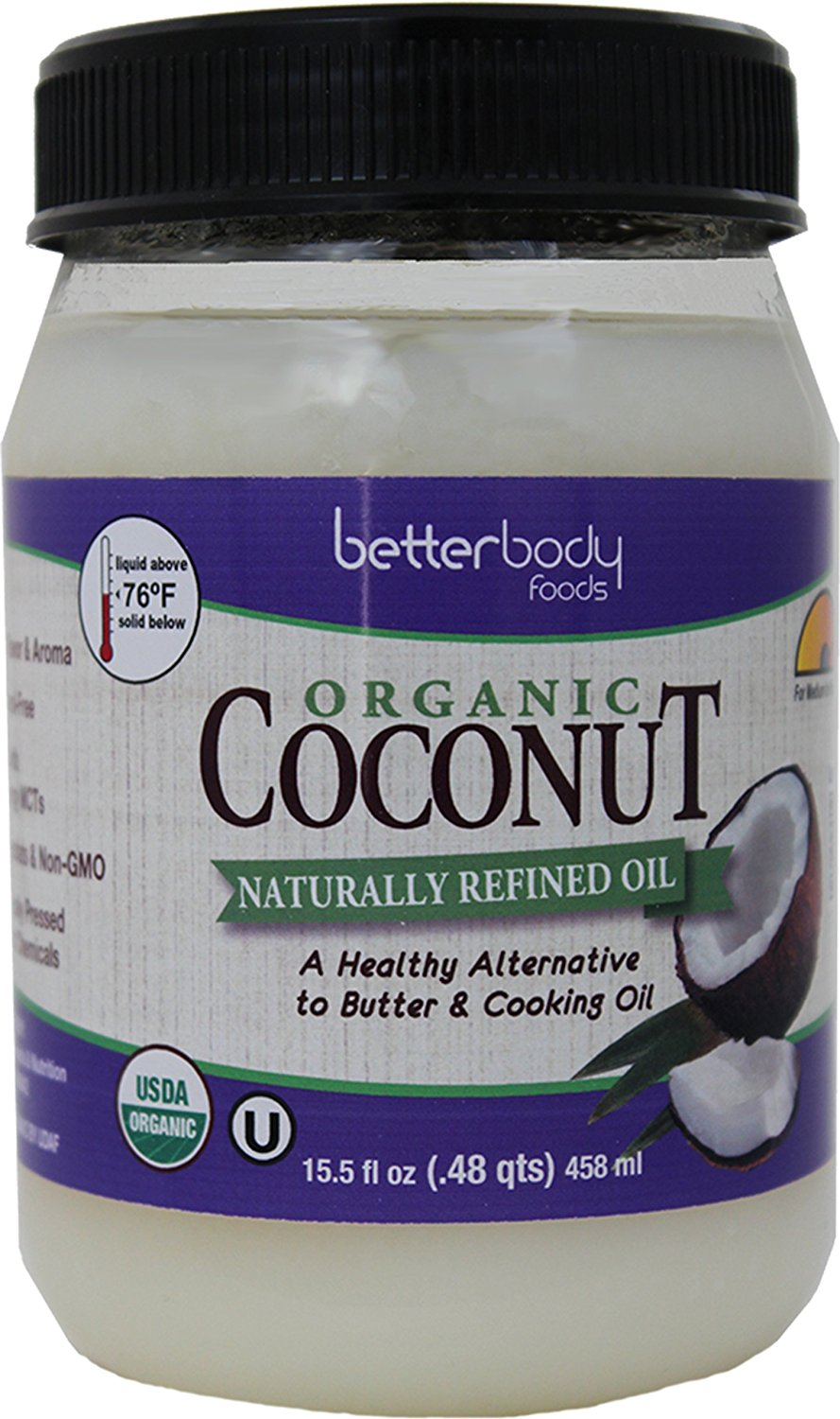 Betterbody Foods Coconut Oil Naturally Refined