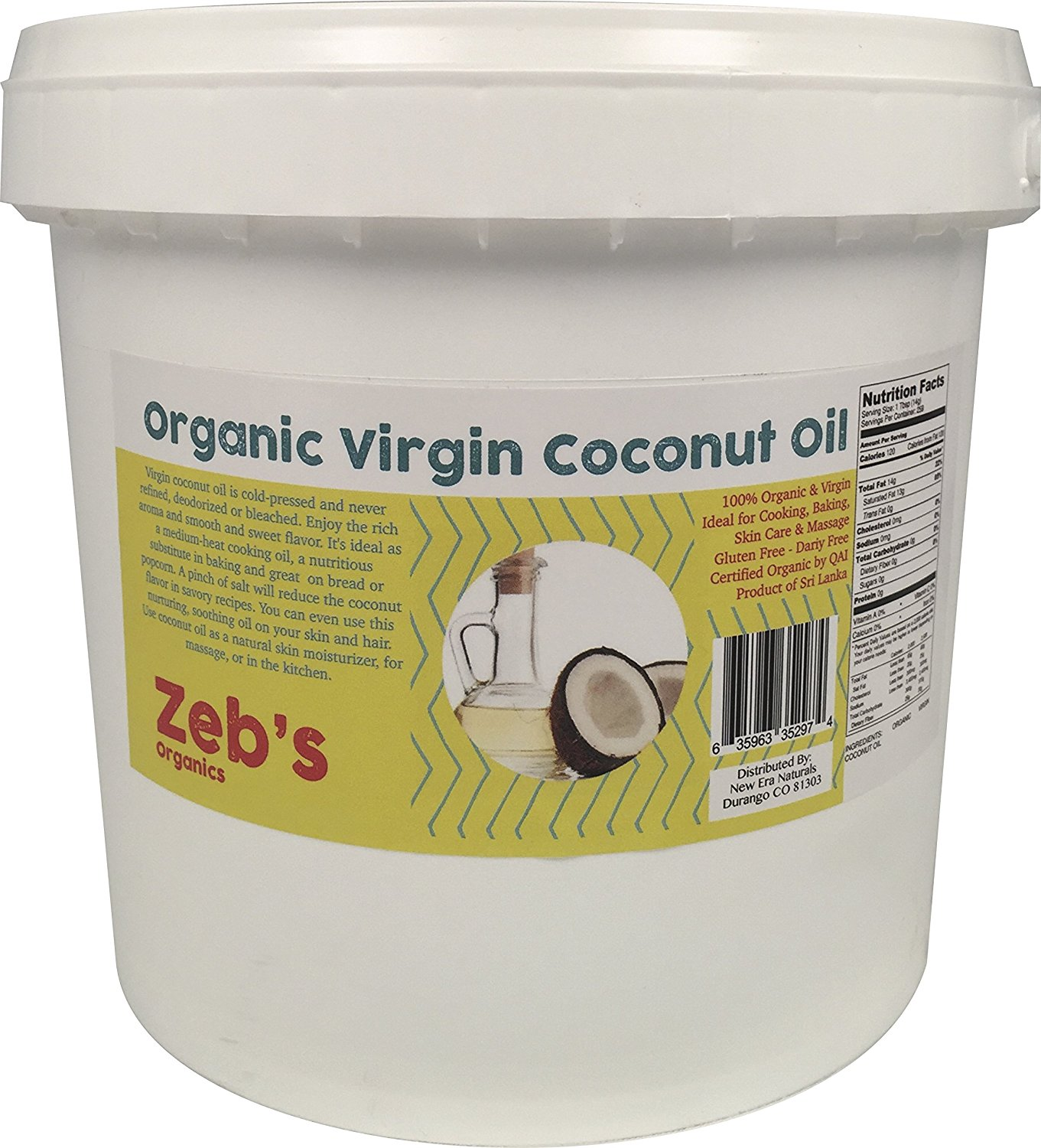 1 Gallon Organic Virgin Coconut Oil