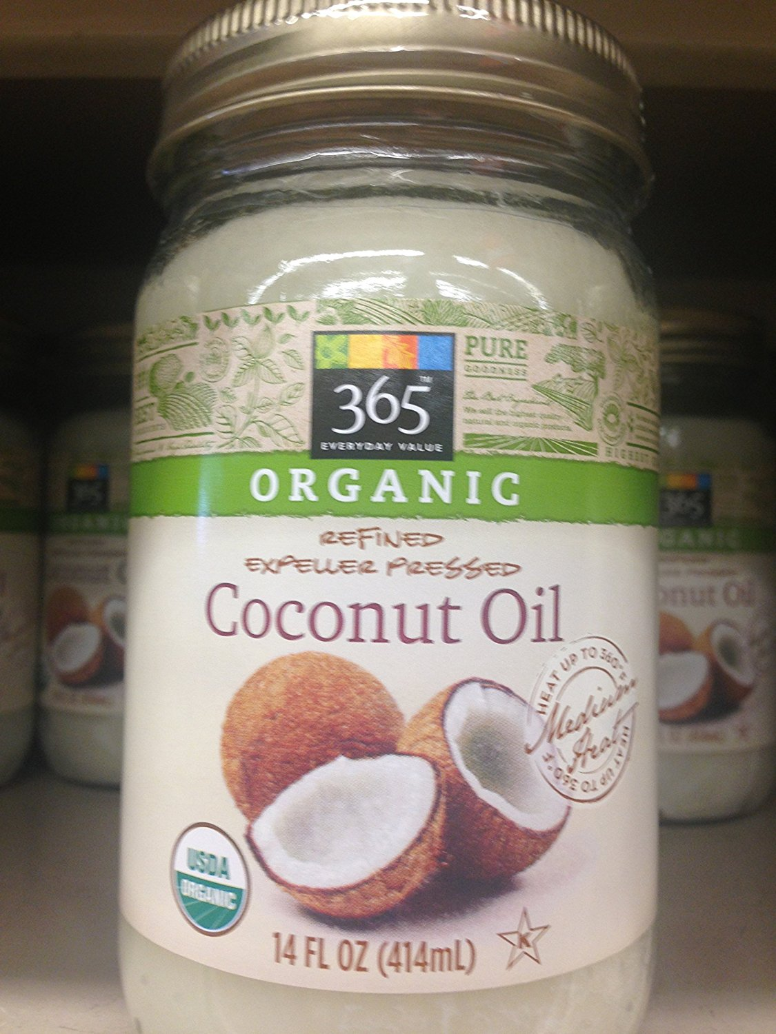 365 Everyday Value Organic Coconut Oil (Jar of 6)