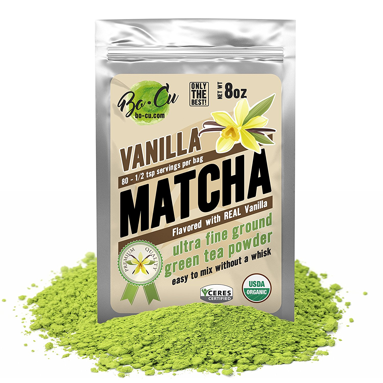 Vanilla Organic Matcha Green Tea Powder - 80 Servings