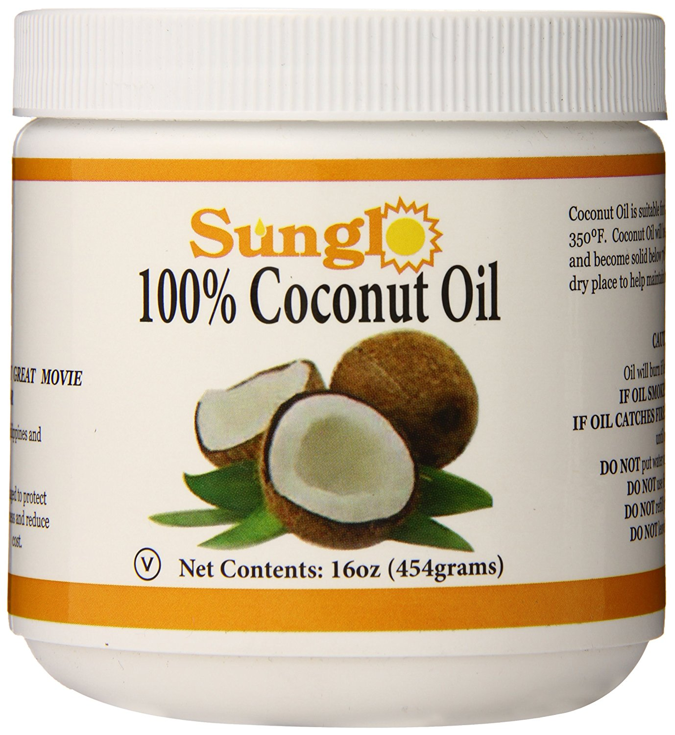 Sunglo 100% Coconut Oil