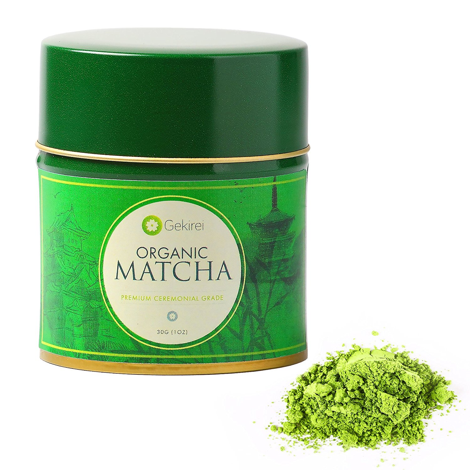 Japanese Matcha Green Tea Powder – Premium Ceremonial Grade - USDA Organic Antioxidant