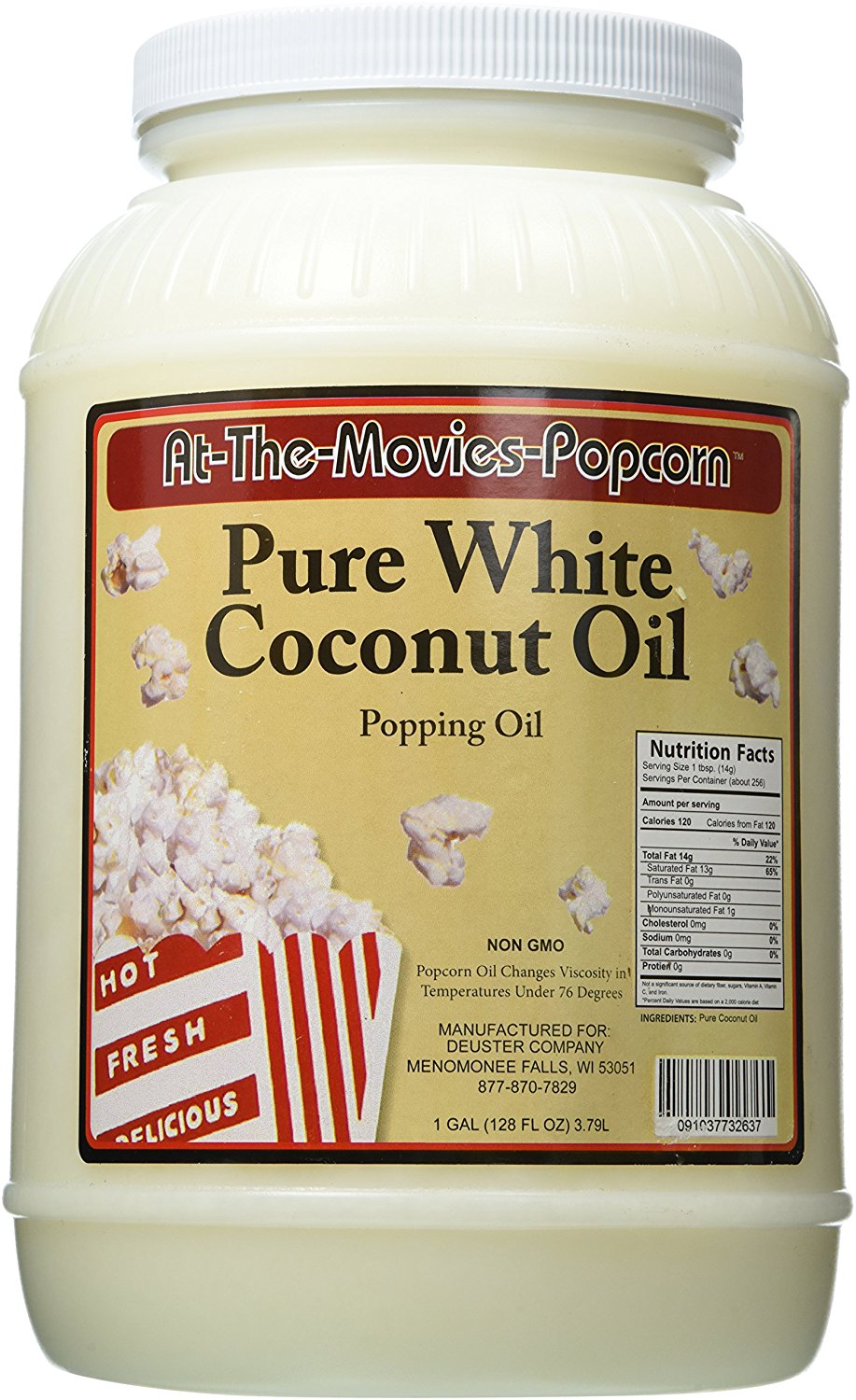 White Coconut Popcorn Popping Oil (128oz)