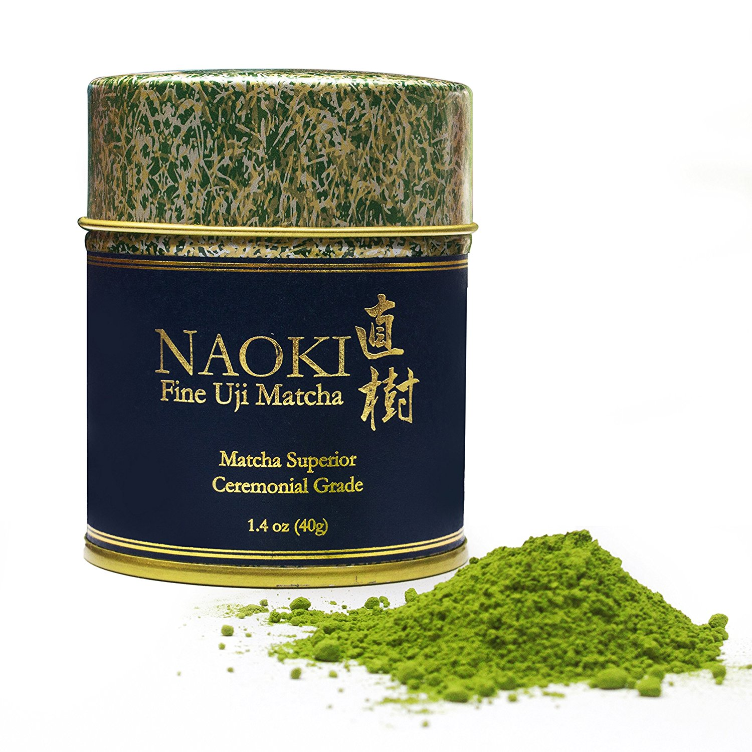 Authentic Naoki Matcha Green Tea Powder Superior Ceremonial Grade - Japanese 40g [1.4oz] - Experience The True Essence of Japanese Uji Matcha To Restore Focus
